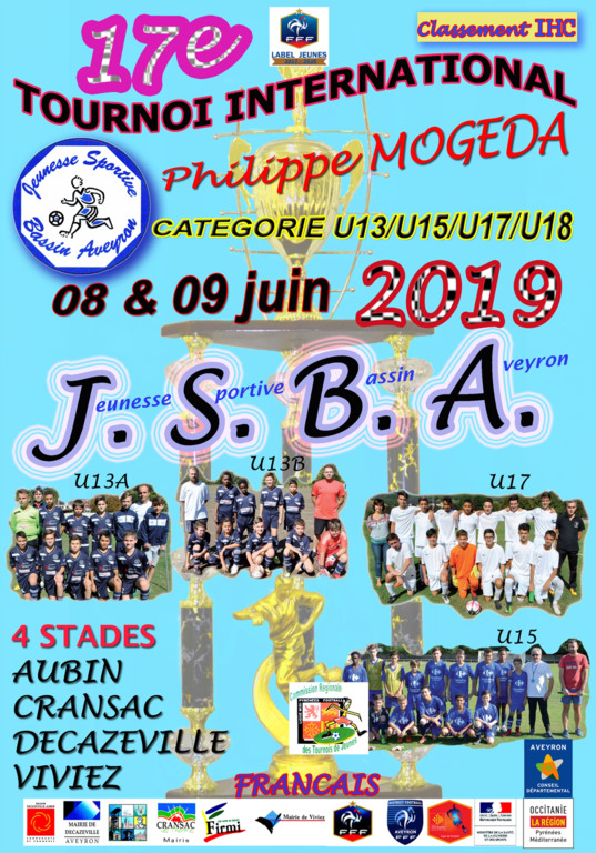 TOURNOI INTERNATIONAL « PHILIPPE MOGEDA » 2019